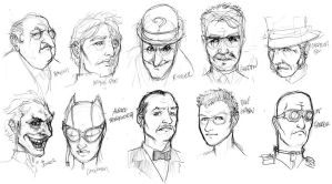 Batman characters sketch by daouide
