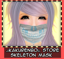 Skull mask blue by MatiasBloodbones