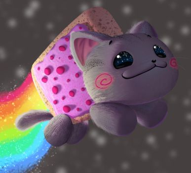 One face a day 178/365. Nyan Cat by Dylean