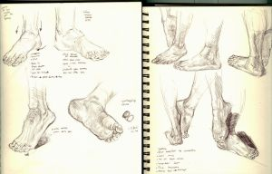 Foot sketches by Ezekiel-Black