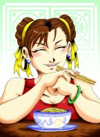Chun Li ramen by the-pooper