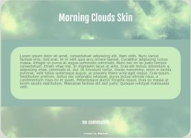 Morning Clouds Journal Skin by ithermi