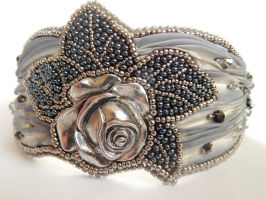 Provance Rose bracelet by SilverLineBeads