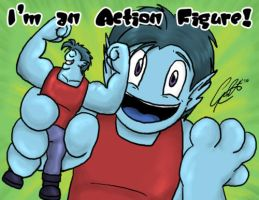 OH - I'M AN ACTION FIGURE by caat