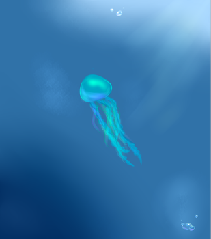 The Lone Jellyfish by Angelfeathers137