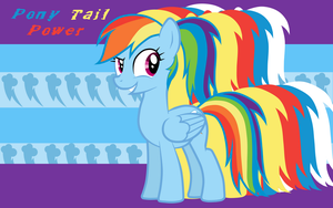 Pony Tail Power Rainbow Dash WP by AliceHumanSacrifice0