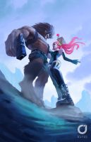 The beauty and the beast by MOROTEO56