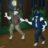 Hiking Together by ziude