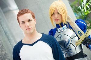 Animazement 2013 - Protector ( Saber / Shiro) by stillreflection
