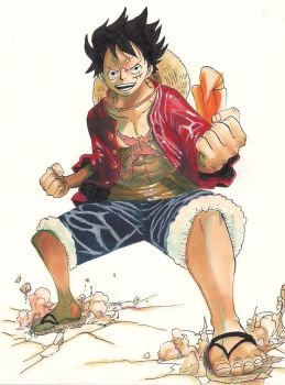Luffy's Ready to Fight by HikaruMuto