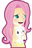 human fluttershy by germanyA