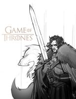 Game of Thrones: Jon Snow (WIP) by Bing-Ratnapala
