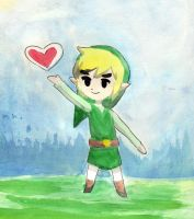 watercolor link by CrystalGJMZL