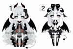 monocrhomatic Demon adoptable batch closed by AS-Adoptables