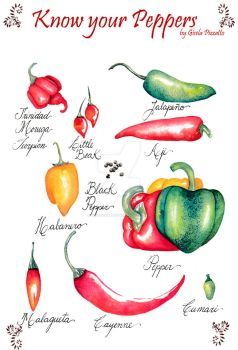 Know your peppers by GisaPizzatto