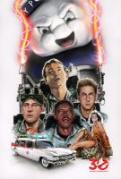 Ghostbusters 30th Anniversary Poster by MarkButtonDesign