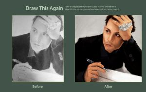 Draw This Again: Johnny Depp by thewordlesssignature