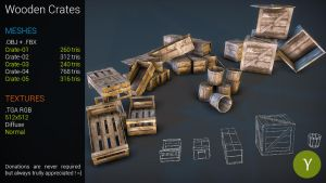Free Wooden Crates by Yughues