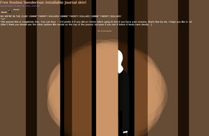 Free line-less Slenderman installable journal skin by Teevz