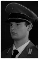 Nazi Officer Profile B+W by Sexy-Grim