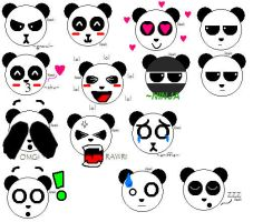 Panda Emotes by paintedhawk