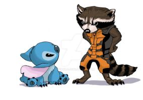 Rocket and Stitch by RadPencils