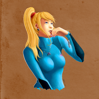 Samus Wondering by Callilf