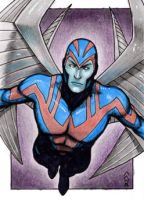 Archangel - X-Men Sketch Card by J-Redd