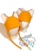 Fox hats in orange by The-Cute-Storm