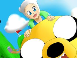 finn and jake speed paint by Vika01