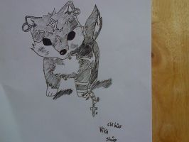 drawing of doggy in chibi~ by chihirophotograper