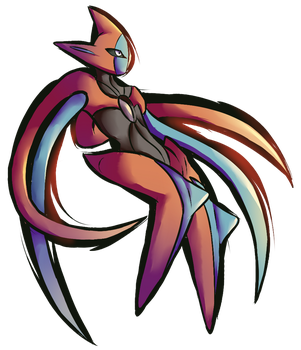 Day 24 Deoxys Attack Forme by NeroInu