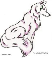 Pink Eyed Wolf by SheWolfGeo