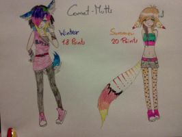 Comet-Mutt-Girls Pointables by TheViciousViper