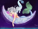 Moon mermaid by IntrovertArts