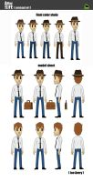 A Day in the Life - Joe Avery model sheet by RudolphEurich