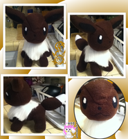 Eevee Plushie :Sold: by Ami-Plushies