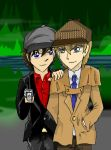Sherlock and Lupin by Lostinthedreams