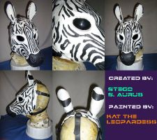 Painted Gas Mask: RubberZebra by Catwoman69y2k