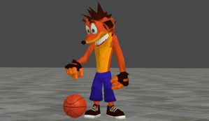 Crash Playing B-Ball - Simple Animation by BrandiSwick227