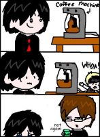 Gerard needs his coffee by countfreakzo