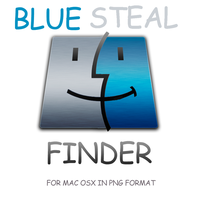 Blue steam Finder icon by TheGraphicGeek