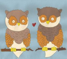 Owl Love by chloeleedwards
