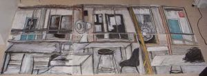 3 part room drawing by gypsysnail