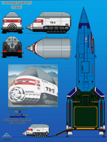 Thunderbird 5 (TB-5) Special Ground Vehicle by haryopanji