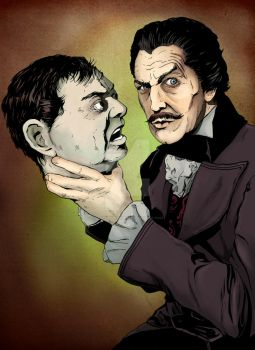 Vincent Price and Peter Lorre by stephenburger
