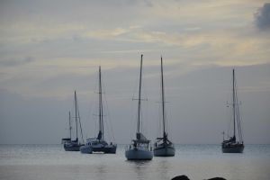 Boats on LA POINTE DU BOUT bay by A1Z2E3R