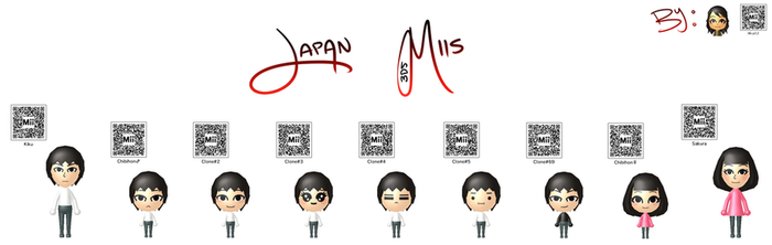 Japan 3DS Miis by The-Eastern-Warrior