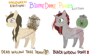 MLP - Halloween Biome Dome Auction #1-2 - CLOSED by MyLilAdoptables