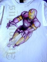 T shirt painting Iron Man by artaquilus